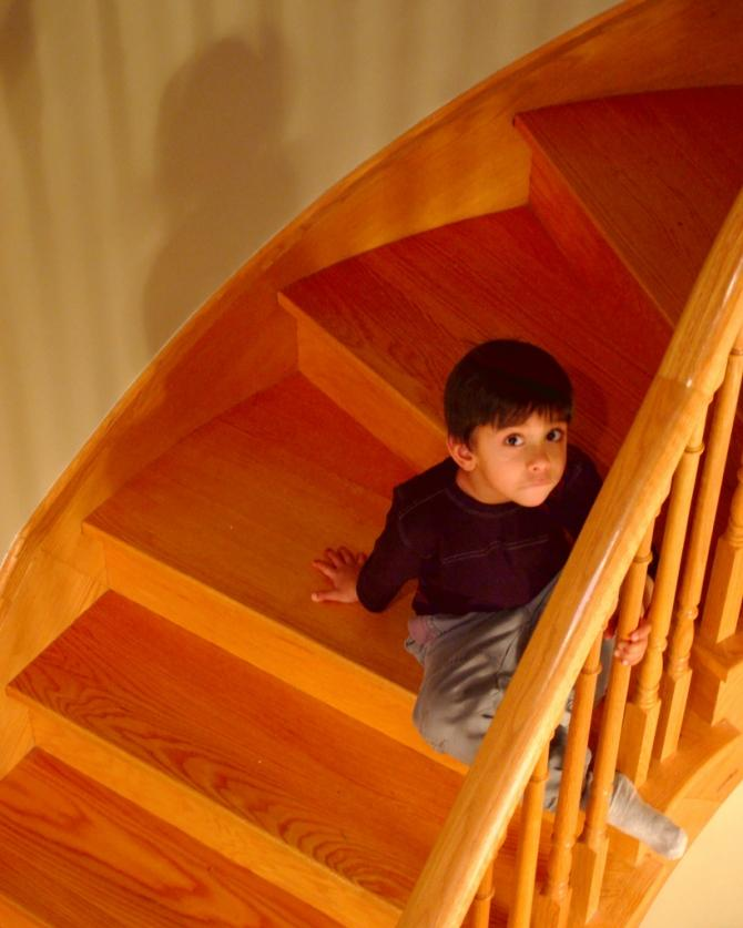 A Boy On The Stairs.