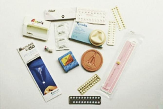 An assortment of contraceptive methods was used at a Clinical Service.