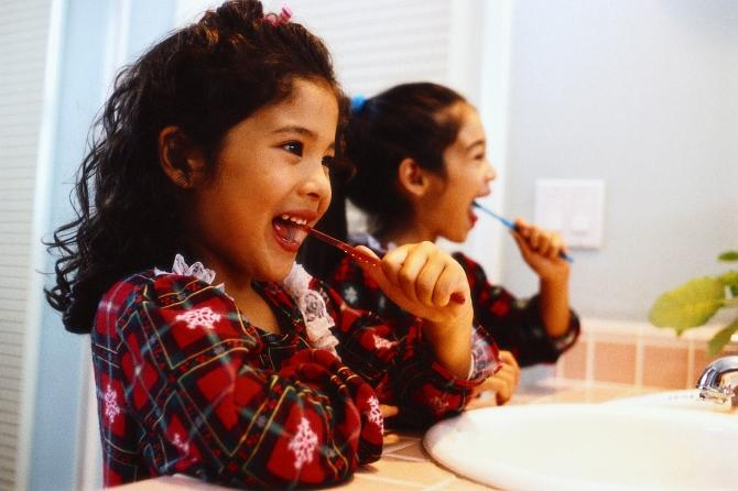 """A new song """"Teach Me How to Brushy"""" set to the original melody of Cali Swag District's """"Teach Me How to Dougie"""" tries to teach young children how to take care of their teeth in a fun way. Oregon Dental Association created the public s"""
