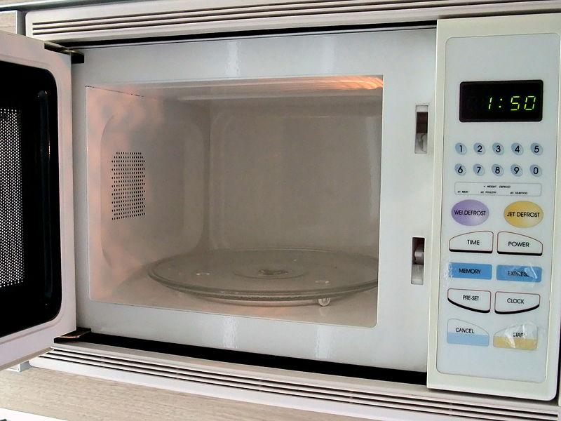 Microwave oven interior