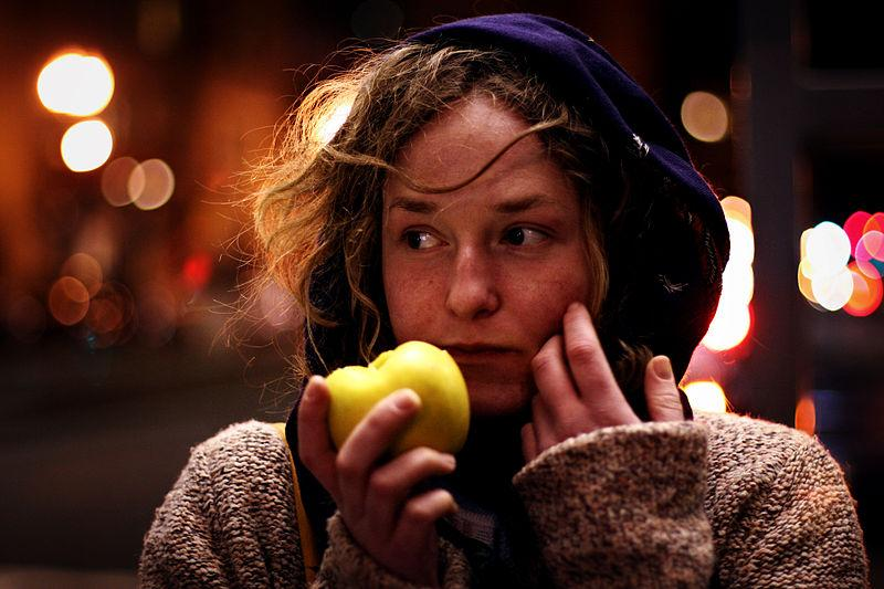 Clone of Woman eating apple