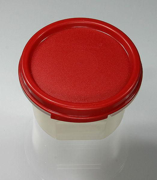 Red tupperware