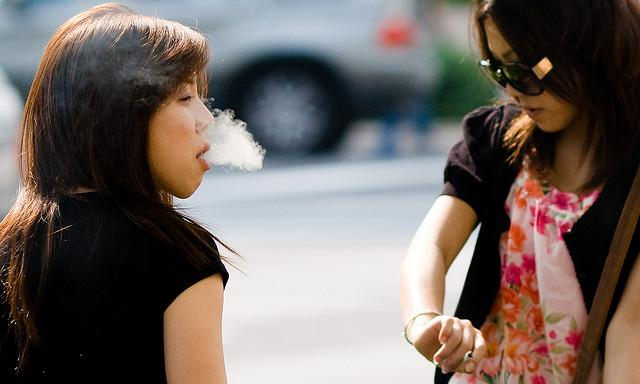 Women smoking