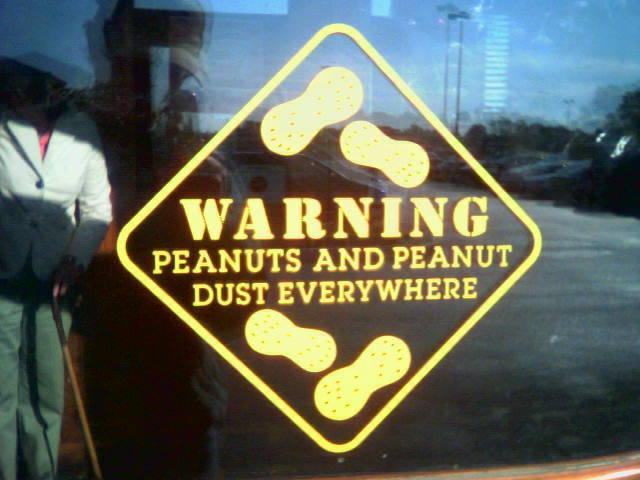 Peanut warning for those with allergies