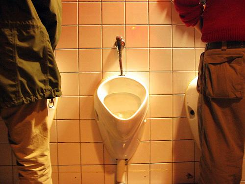 Peeing at urinal fear