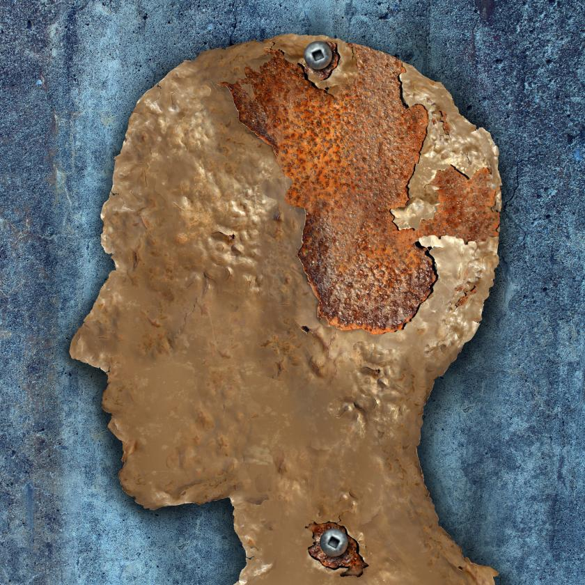shutterstock image of rusting profile