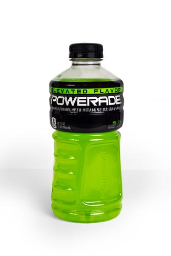 Melon flavored Powerade sports drink
