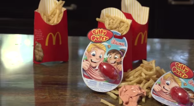 a silly putty ingredient has made its way into many fast food chains