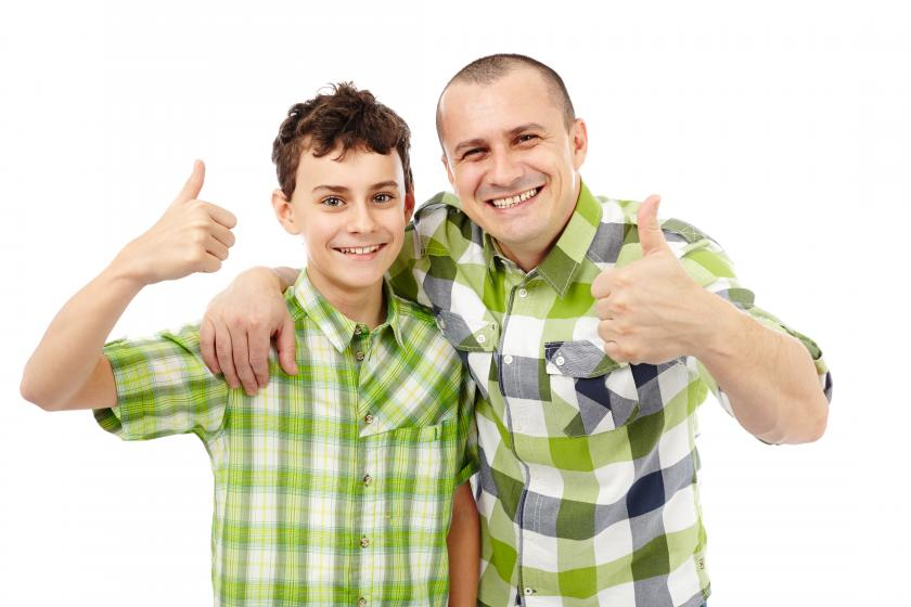 teen and dad