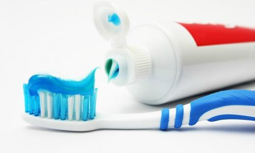 A toothbrush with toothpaste