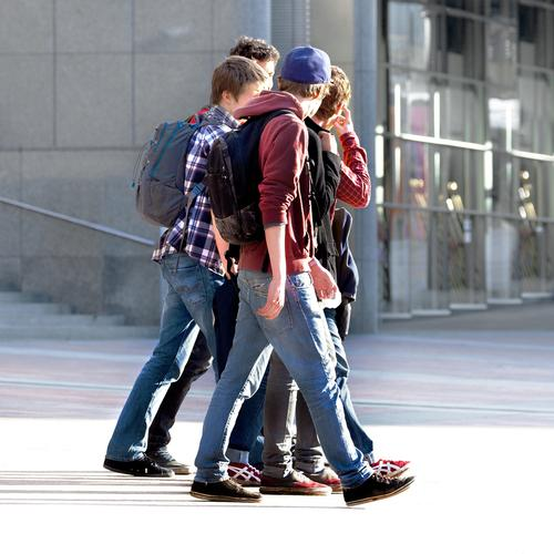 A group of teenagers