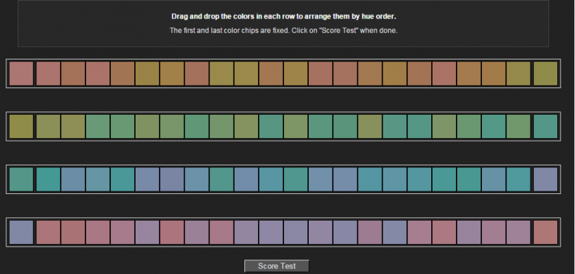 color blind  take this online color challenge to find out how well you see color