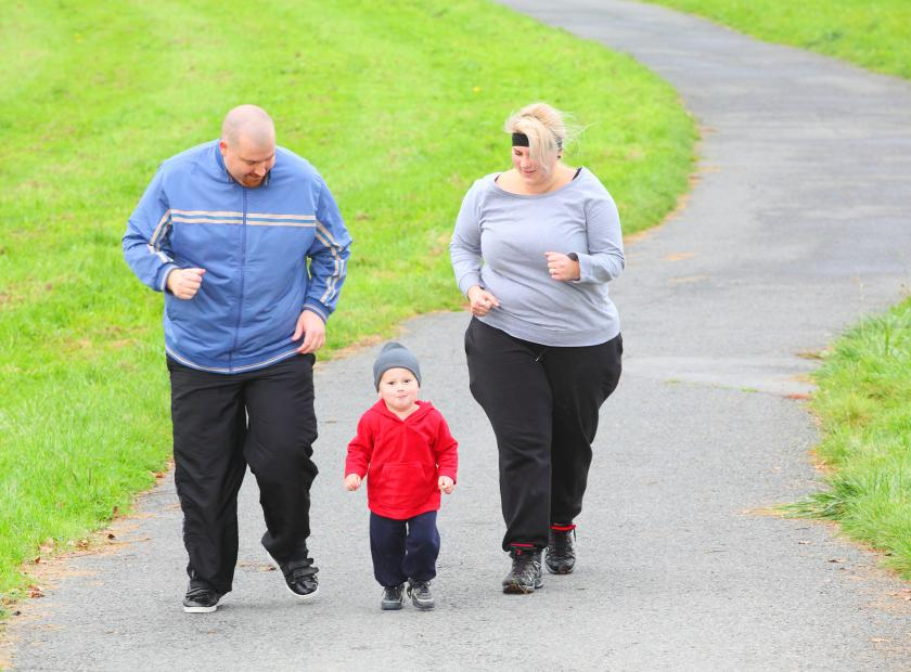 obese people running