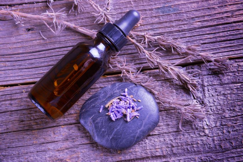 Lavender essential oil and soap