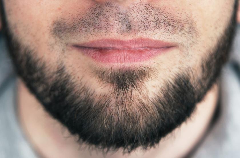 Closeup of beard man