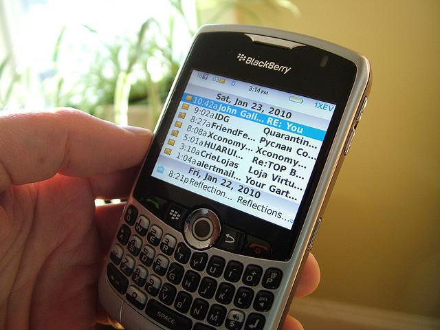 Emails on BlackBerry