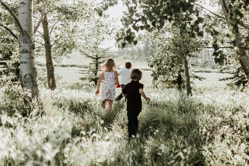 Children in the outdoors