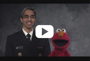 Elmo Teams Up With Surgeon General For A Pro-Vaccination Public Service Announcement