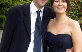 Alex Bradford with his fiance Jemma Webb