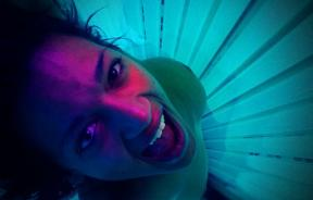 Tanning bed woman
