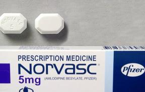 Norvasc, amlodopine, a commonly prescribed calcium-channel blocker