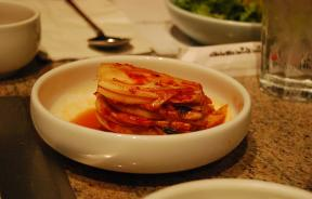 Kimchi, a fermented vegetable