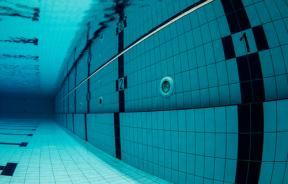 Swimming pool underwater
