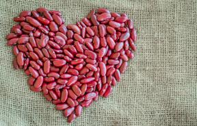 Kidney Beans in Shape of Heart