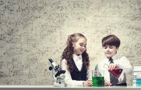 girls and boys in science