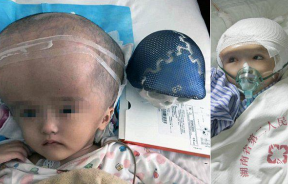 Chinese toddler in hopsital