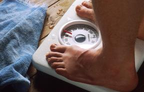 Man weight scale