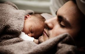 Man and baby