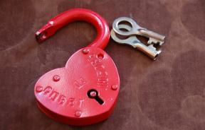 Heart locket and keys
