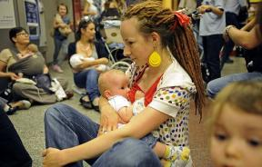 Women breastfeeding