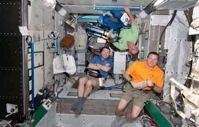Astronauts aboard the ISS