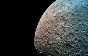 Photo of the Moon's dark side taken by Beresheet from a distance of 550 km