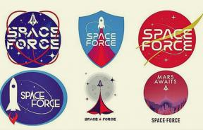 Proposed logos for Trump's Space Force