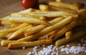 french fries and salt