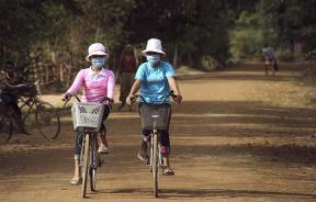 cycling with face masks