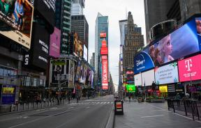 Times Square, New York during coronavirus