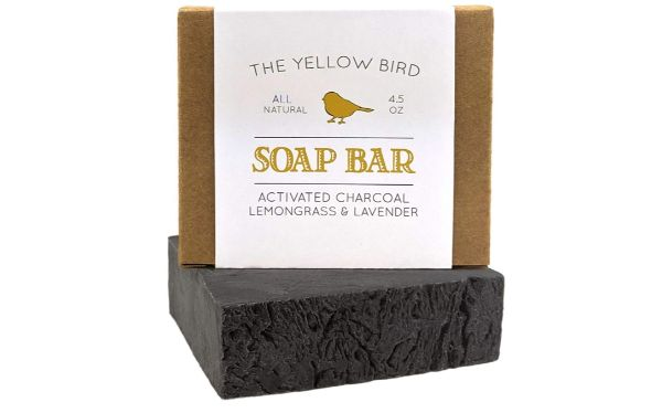 1. The Yellow Bird Activated Charcoal Soap Bar