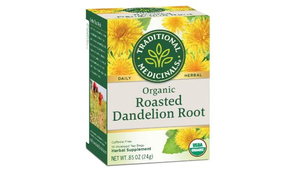 1. Traditional Medicinals Organic Roasted Dandelion Root