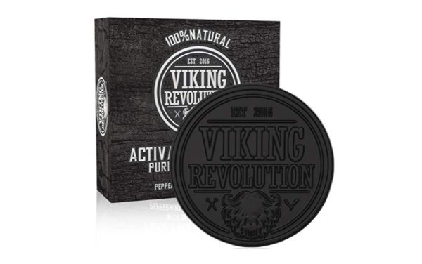 Viking Revolution Activated Charcoal Soap for Men with Dead Sea Mud