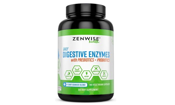 1. Zenwise Health Digestive Enzymes with Prebiotics + Probiotics