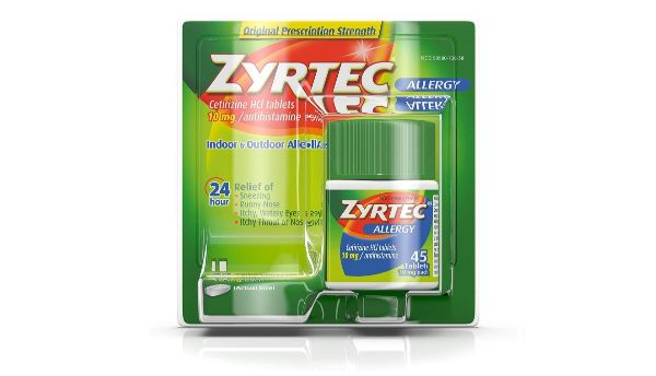 2. Zyrtec 24 Hour Allergy Relief Tablets
